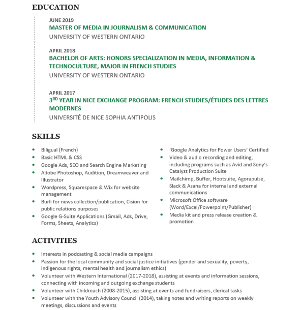 Gabriella Learn Resume Page 2